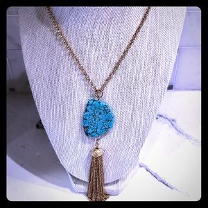 Jewelry - 🦋Turquoise🦋 Tassel Necklace